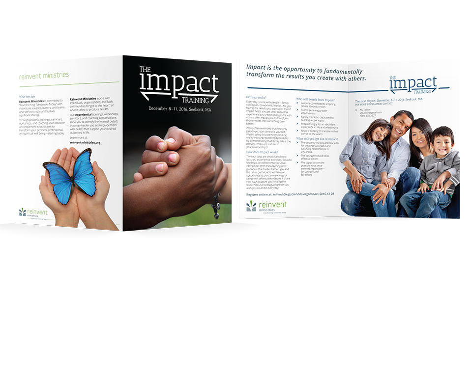 Impact Training brochure designed by Paul W. Perry